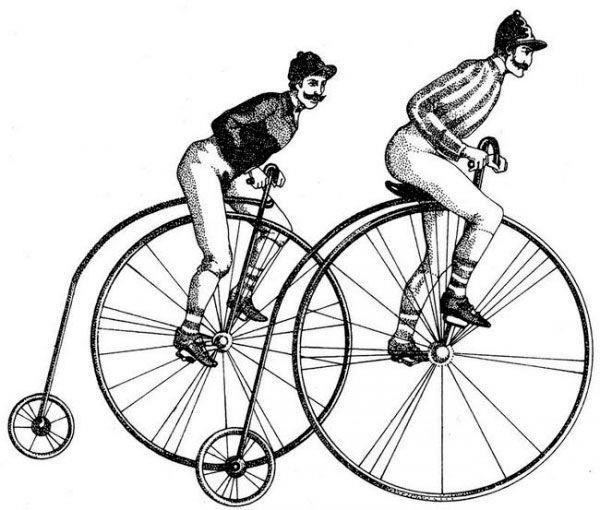 колеса (большое переднее и маленькое заднее)