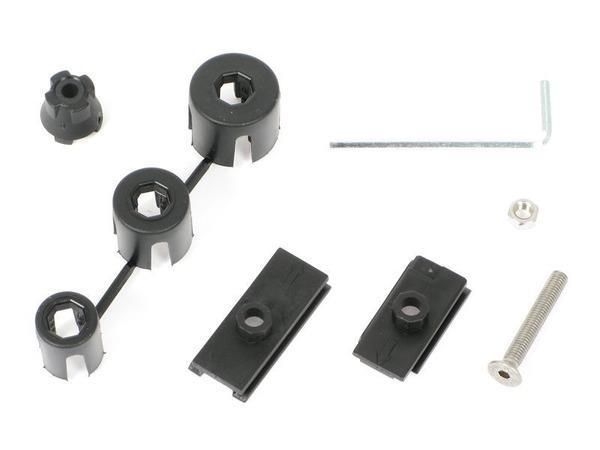 Функциональный комплект с различными расширительными шайбами под втулку передней вилки