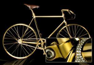 самый дорогой в мире велосипед Aurumania Crystal Edition Gold Bike