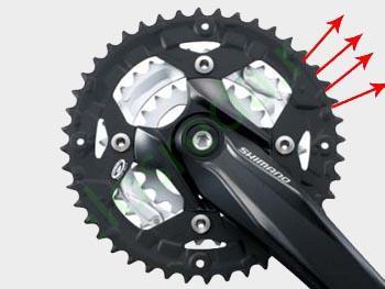 Изношенная система велосипеда