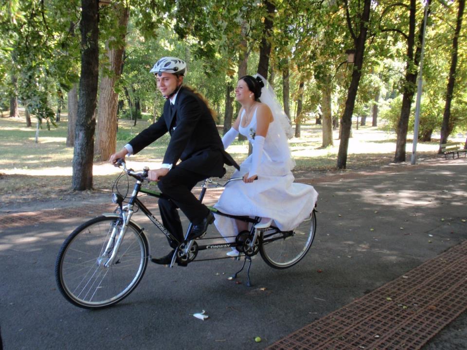 Велосипед тандем фото
