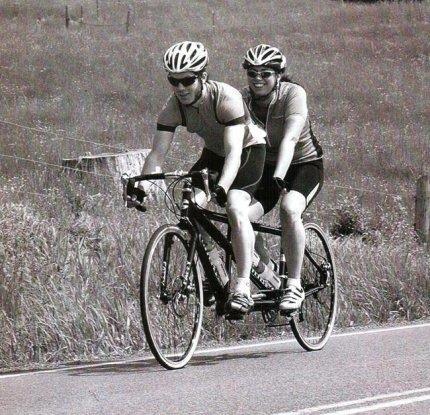 Велосипед вдвоём- тандем