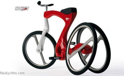 Необычный трехколесных велосипед