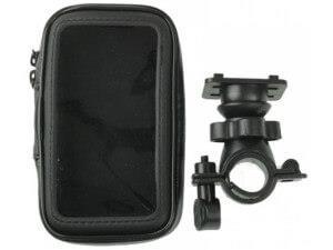 кожаный держатель для телефона на велосипед
