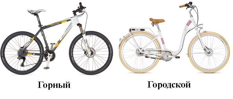 Отличия велосипедов