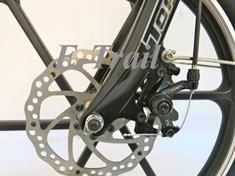 Складной велосипед с литами дисками и электродвигателем Motus 2P Rim