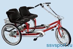 двухместный прогулочный велосипед