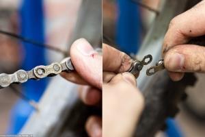 Съем велосипедной цепи