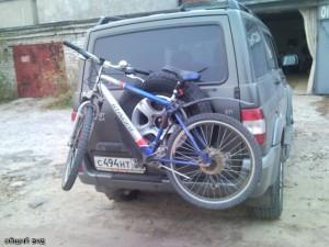Крепление на запасное колесо
