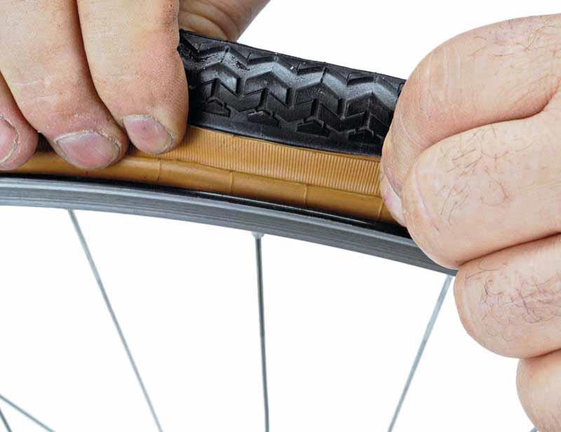Проверка правильности установки покрышки