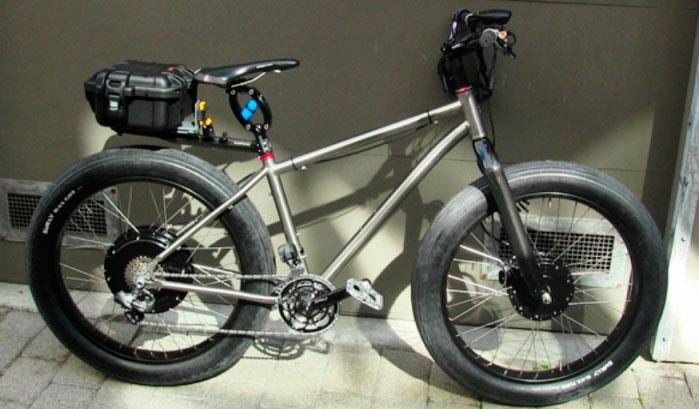 Электровелосипед с широкими шинами