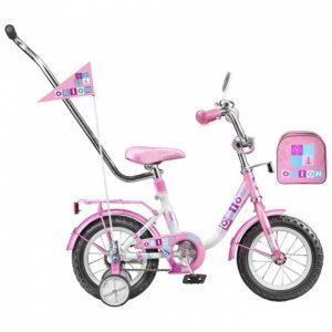 детские велосипеды стелс с ручкой