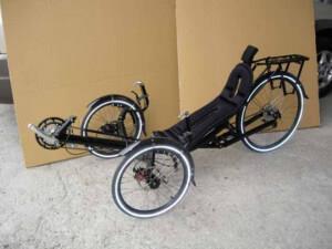 туристически лежачий велосипед - лигерад