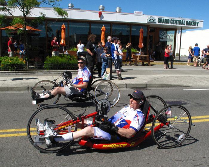 Лежачие трехколесные велосипеды (лигерады)