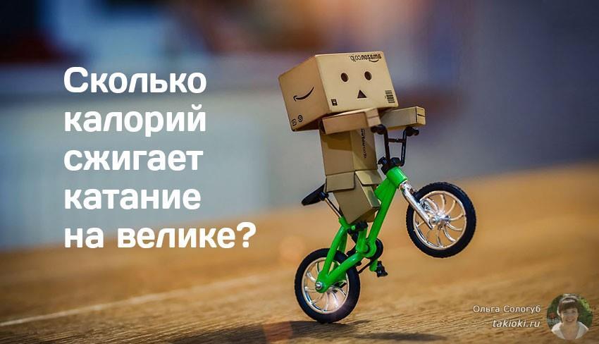 сколько калорий сжигает катание на велосипеде