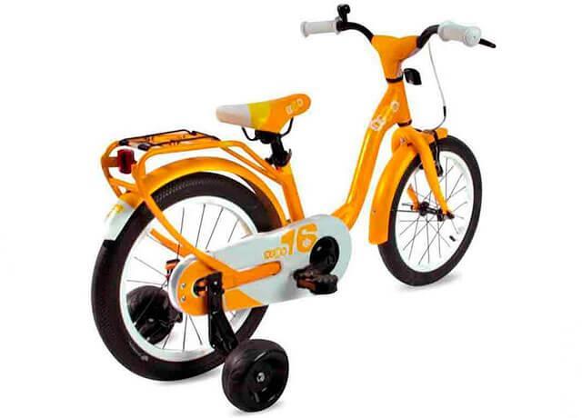 Детский двухколесный велосипед с дополнительными колесиками Scool niXe 16