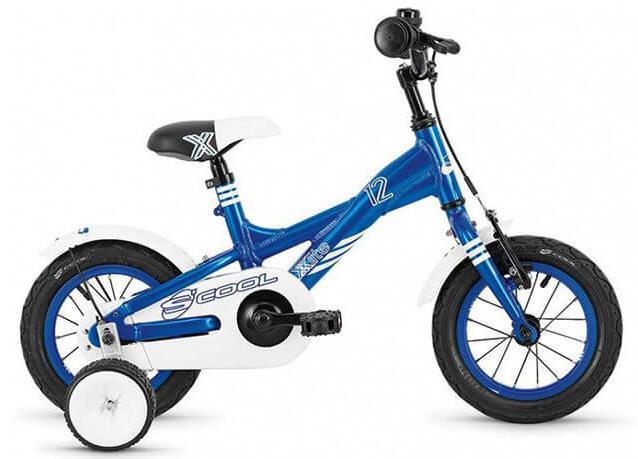 Детский двухколесный велосипед с дополнительными колесиками Scool XXlite 16