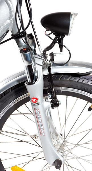 Передний амортизатор и фара велосипеда с мотором Motus GS new