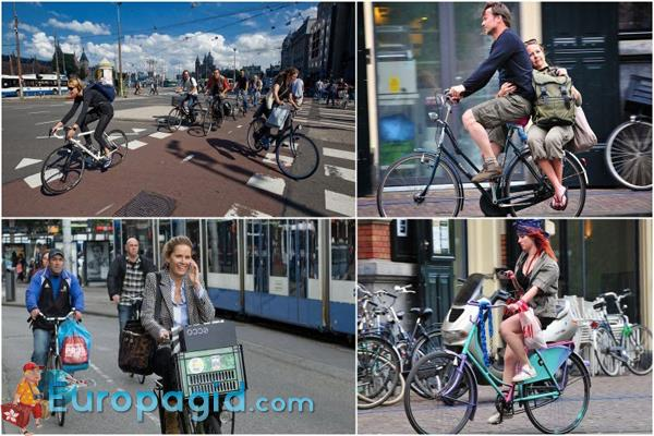 пункты проката велосипедов в Амстердаме
