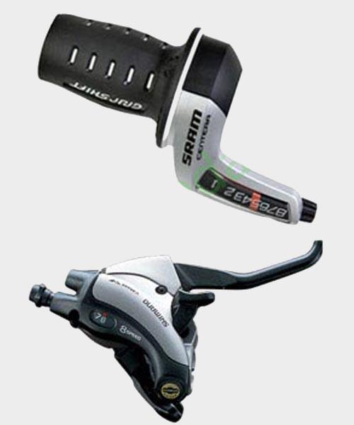 Переключатели скоростей (манетки) велосипеда