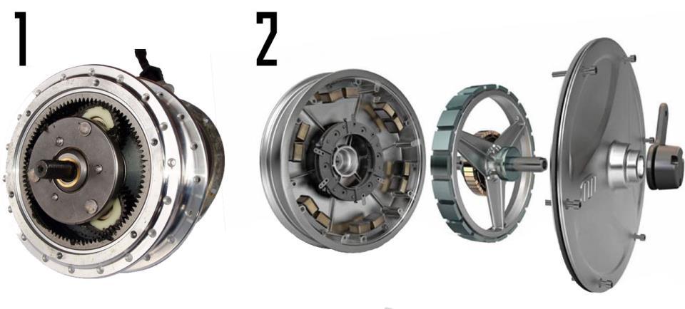 Типы мотор-колёс: редукторный ибезредукторный
