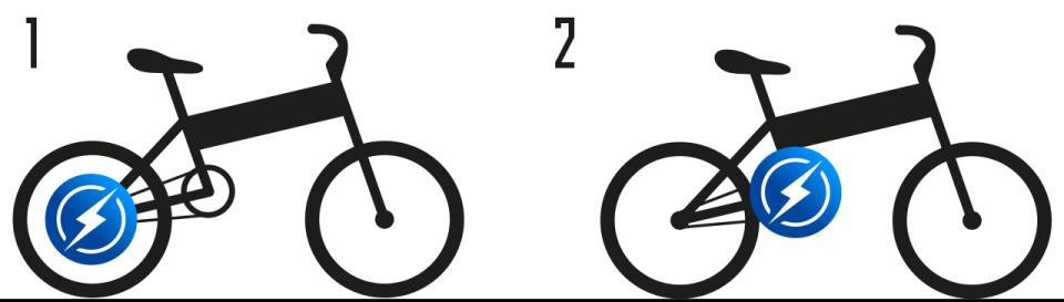 Электровелосипед сзадним приводом