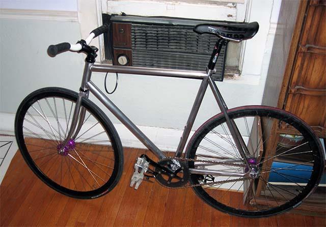 Велосипед после снятия краски