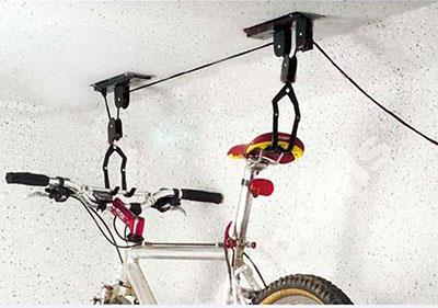 Вариант хранения велосипеда на балконе