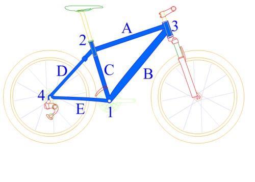 Конструкция классической велосипедной рамы