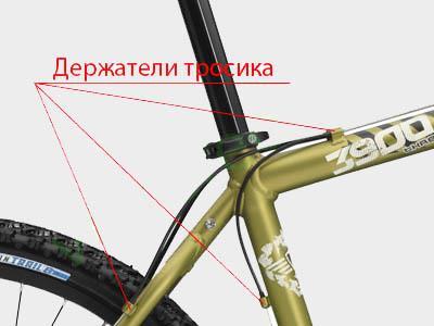 Держатели рубашки на раме велосипеда