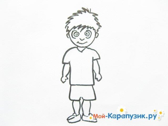 Поэтапное рисование мальчика цветными карандашами - фото 9