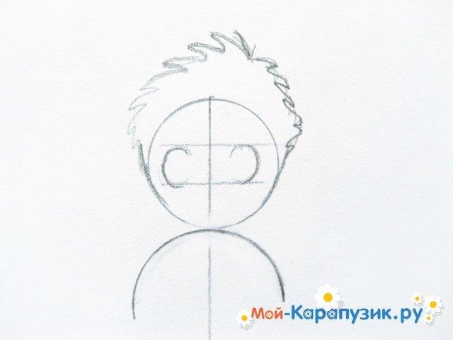 Поэтапное рисование мальчика цветными карандашами - фото 3