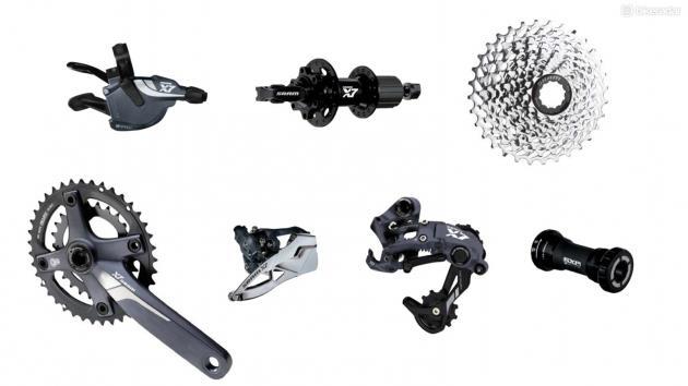 Групсет горного велосипеда SRAM X7