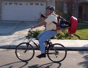 Велосипед с пропеллером