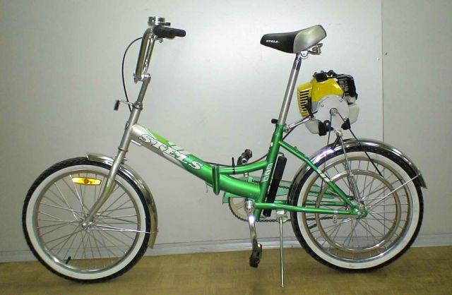 байк с мотором от бензопилы