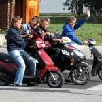 Юные скутероводы
