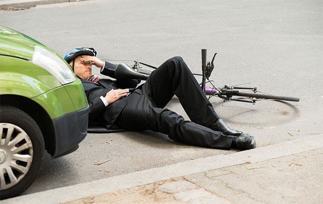 Столкновение с велосипедистом