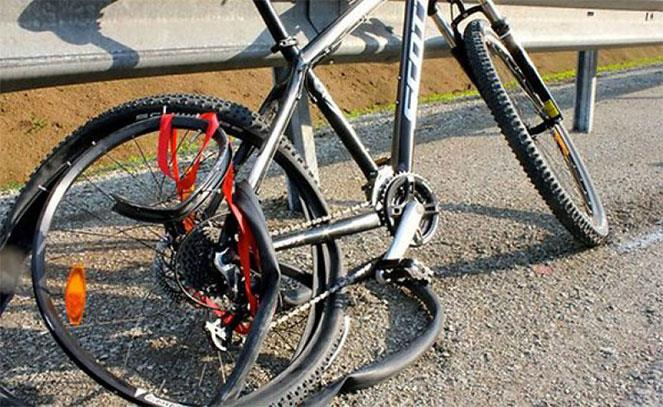 Велосипед после аварии