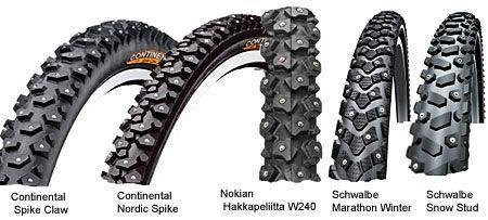 популярные зимние шины для велосипеда
