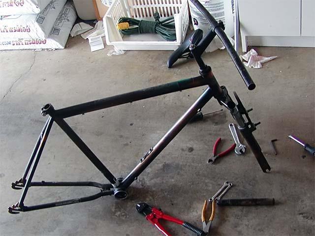 Подготовка велосипеда к покраске
