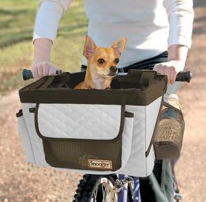 Корзина для перевозки собак на велосипед