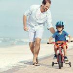 четырехколесный велосипед с ручкой для ребенка