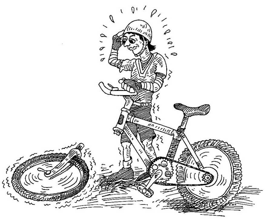 Неисправный велосипед