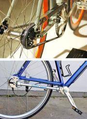 Пример использования ременного привода (сверху) и карданного (снизу)