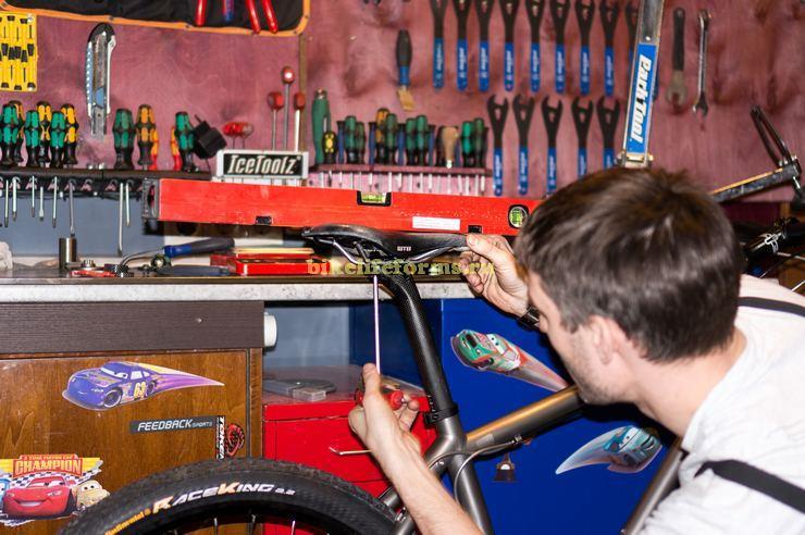 Выставляем правильно велосипедное седло