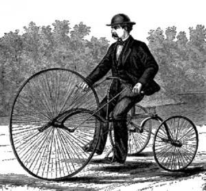 Один из первых велосипедов