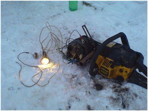 генератор из бензопилы
