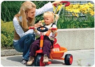 велосипед с ручкой для малышей