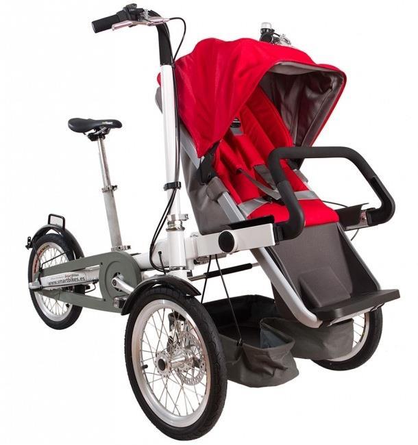 Трехколесный велосипед Vagabond с детским сидением в передней части