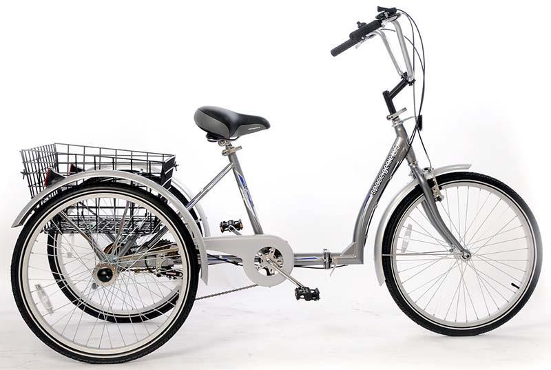 Складной трёхколесный велосипед для взрослых
